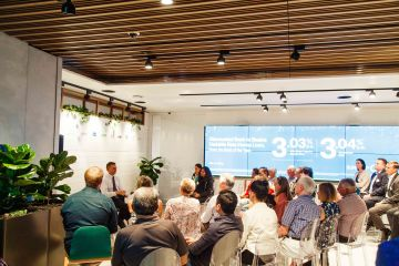 Suncorp customers meet with Group CEO, Steve Johnston for a Q&A evening at Carindale