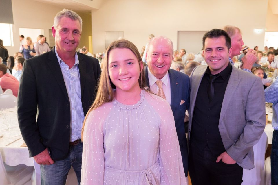Grazier Marcus Curr, daughter Emily Curr, media commentator Alan Jones, tenor Mark Vincent